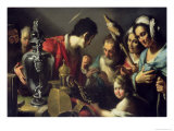 The Charity of St. Lawrence Giclee Print by Bernardo Strozzi
