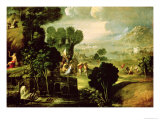 Landscape with Saints, 1520-30 Giclee Print by Dosso Dossi