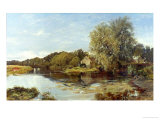 At Milton Mill, on the River Irvine, 1855 Giclee Print by Horatio Mcculloch