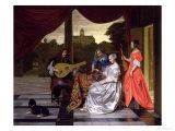 Musical Scene in Amsterdam Giclee Print by Pieter de Hooch