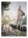 Pulcinella on Holiday Giclee Print by Giandomenico Tiepolo