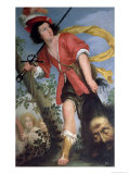 David with the Head of Goliath Giclee Print by Bernardo Strozzi