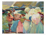 Fisherwomen on the Beach Giclee Print by Joaqu&#237;n Sorolla y Bastida