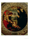The Holy Family Gicle-tryk af Mariotto Albertinelli