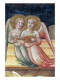 Two Musical Angels, Life of the Virgin and the Sacred Girdle, Chapel of the Sacred Girdle, 1392-95 Giclee Print by Agnolo Gaddi