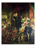 The Birth of Henri IV Giclee Print by Eugene Deveria