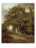 Wooded Path Giclee Print by John Constable