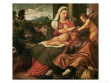 Rest on the Flight Into Egypt Giclée-Druck von Bonifacio Veronese