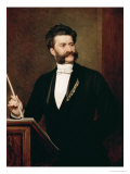 Johann Strauss the Younger, 1888 Giclee Print by August Eisenmenger