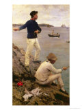 Fisher Boys, Falmouth, 1885 Giclee Print by Henry Scott Tuke