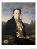 Self Portrait, 1828 Giclee Print by Ferdinand Georg Waldmuller