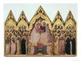Coronation of the Virgin Giclée-tryk af Bernardo Daddi