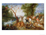 The Animals Entering Noah&#39;s Ark Giclee Print by Jan Van The Younger Kessel