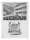 Little Theatre, Haymarket in London and the Front of the Above, Engraved by James Stow Giclee Print by George Jones