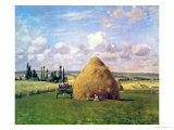 The Haystack, Pontoise, 1873 Giclee Print by Camille Pissarro