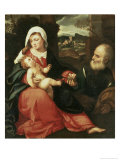 The Holy Family Gicle-tryk af Giovanni de Busi Cariani