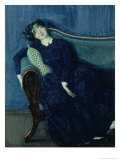 Sleeping Woman in Blue, 1903 Giclee Print by Konstantin Andreevic Somov