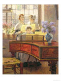 Around the Piano Giclee Print by Walter Firle