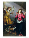 The Annunciation, 1603 Giclee Print by Alessandro Allori