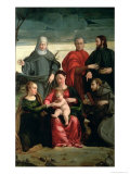 The Mystic Marriage of St. Catherine with St. Francis, St. Clare, St. Cosmas and St. Damian Giclee Print by Gaspare Pagani