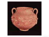 Bowl, with Slip Decoration, Found at Coptos, Upper Egypt Giclee Print by Roman Period Egyptian