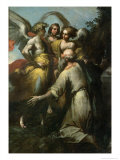 Abraham and the Three Angels Giclée-tryk af Giovanni Donducci