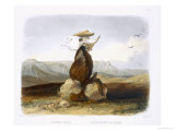 Magic Pile Erected by Assiniboin Indians, Plate 15, Travels in the Interior of North America Giclee Print by Karl Bodmer