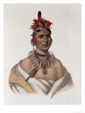 Chon-Ca-Pe, Oto Chief, The Indian Tribes of North America, Vol.1, Mckenney and Hall, Pub.Grant Giclee Print by Charles Bird King