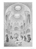 Adji Seid Hussein Bazaar, in Kashan, Voyage Pittoresque of Persia, Engraved by Louis Felix Penel Giclee Print by Pascal Xavier Coste