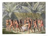 Dancing Festival of Camacani Indians, Brazil, Le Costume Ancien et Moderne, c.1820 Giclee Print by D.k. Bonatti