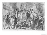 Slave Auction at the South, from Harper&#39;s Weekly, 13th July 1861 Giclee Print by Theodore Russell Davis