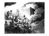 The Storming of Badajoz, 6th April 1812 Reproduction procédé giclée par John Augustus Atkinson