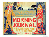 Reproduction of Poster Advertising&#39;Morning Journal, a Modern Newspaper at a Modern Price, American Giclee Print by Louis John Rhead