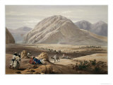 View of the Baba-Naunee Mountain, from Sketches in Afghaunistan, Engraved by Charles Haghe Giclee Print by James Atkinson