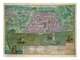 Map of Algiers, from Civitates Orbis Terrarum by Georg Braun Giclee Print by Joris Hoefnagel