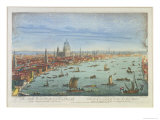 The South West Prospect of London, from Somerset Gardens to the Tower Giclee Print by Thomas Bowles