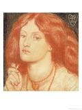 Portrait of Elizabeth Siddal Giclee Print by Dante Gabriel Rossetti