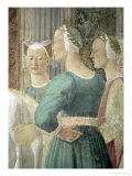 Legend of the True Cross, Queen of Sheba Worshipping the Wood of the Cross, Completed 1464 Giclee Print by Piero della Francesca