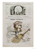 Front Cover of La Lune, with a Caricature of Jacques Offenbach Giclee Print by André Gill