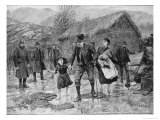 Scene at an Irish Eviction in County Kerry, from The Illustrated London News, 15th January 1887 Reproduction procédé giclée par Amedee Forestier