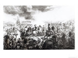 Wellington at the Battle of Waterloo, 18th June 1815 Reproduction procédé giclée par John Augustus Atkinson