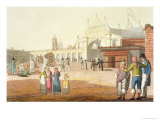 Piazza Del Mercato, Argentina, Le Costume Ancien et Moderne, c.1820-30 Giclee Print by Paolo Fumagalli