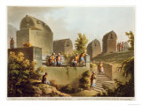Sarcophagi and Sepulchres, at Harbour at Cacamo, Views in the Ottoman Empire, Published Bowyer Giclee Print by Luigi Mayer