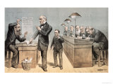 Mr Gladstone and His Clerks, from 'st. Stephen's Review Presentation Cartoon', 1 May 1886 Giclee Print by Tom Merry