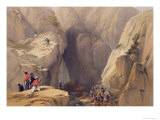 Entrance to the Kojak Pass from Parush, from Sketches in Afghaunistan Giclee Print by James Atkinson