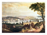 The City of Washington from Beyond the Navy Yard, Engraved by William James Bennett, c.1824 Giclee Print by George Cooke