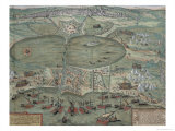 Map of Tunis, from Civitates Orbis Terrarum by Georg Braun Giclee Print by Joris Hoefnagel