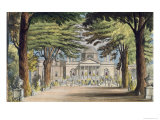Principal Front of Chiswick House, from R. Ackermann's Giclee Print by John Gendall