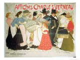 The Street, Poster For the Printer Charles Verneau, 1896 Giclee Print by Th&#233;ophile Alexandre Steinlen