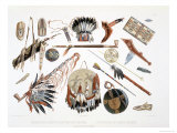 Indian Utensils and Arms, Plate 48, Travels in the Interior of North America, c.1844 Giclee Print by Karl Bodmer